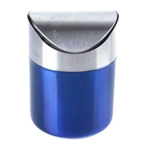 Mini Waste Bin Garbage Basket Home Trash Can Q