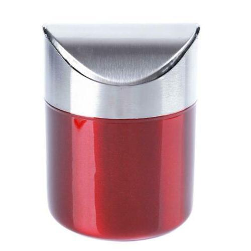 Mini Desktop Garbage Basket Trash Can Container Q