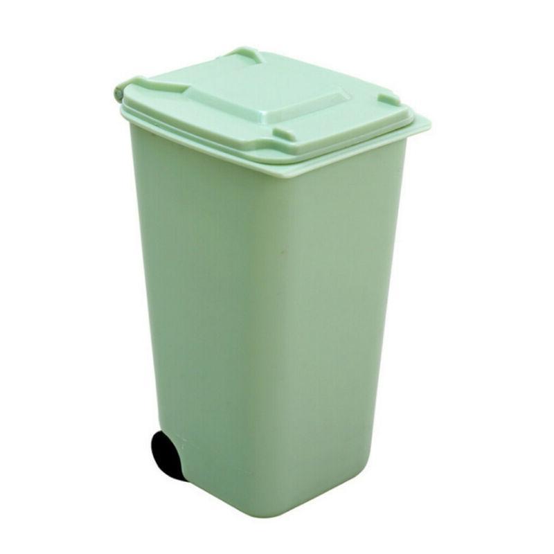 Waste Bin Basket Mini Trash Can Office Desk