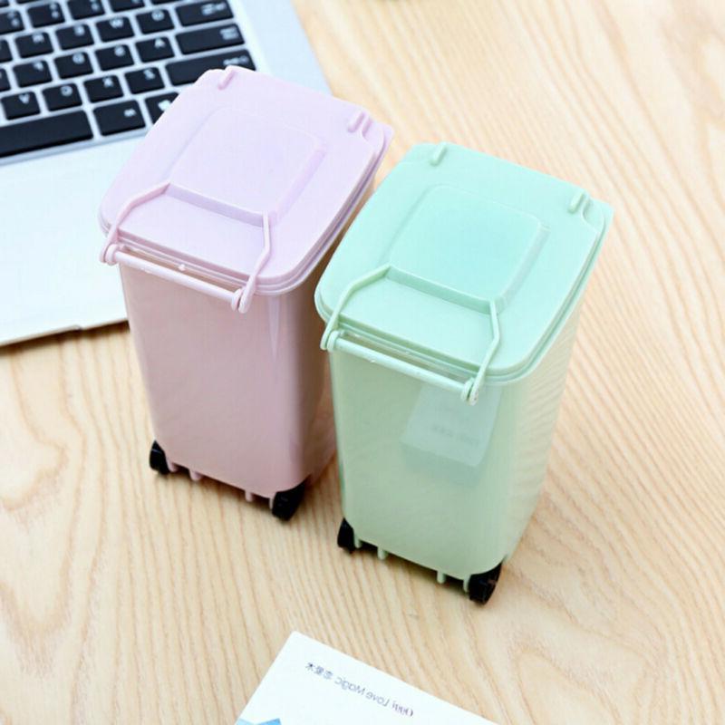 Waste Bin Basket with Mini Desk