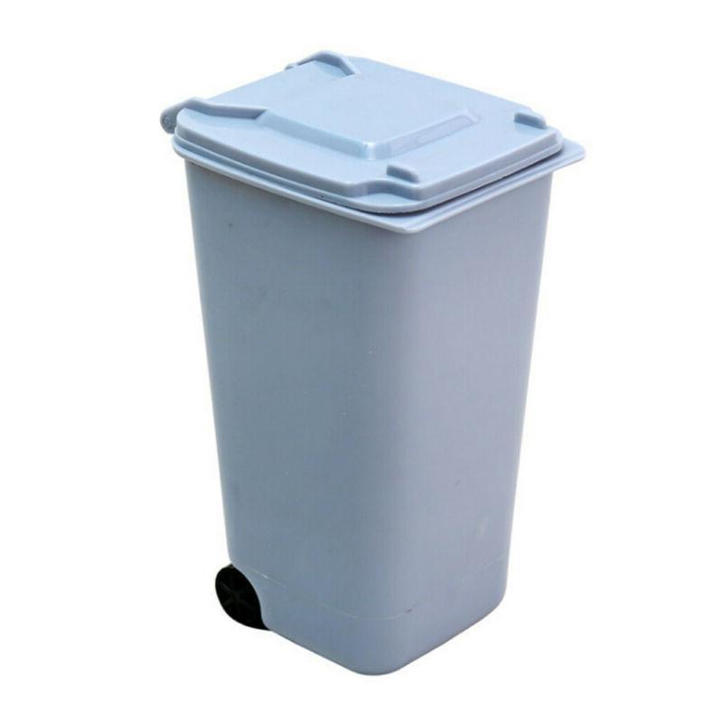 Basket Cover Mini Trash Can Desk