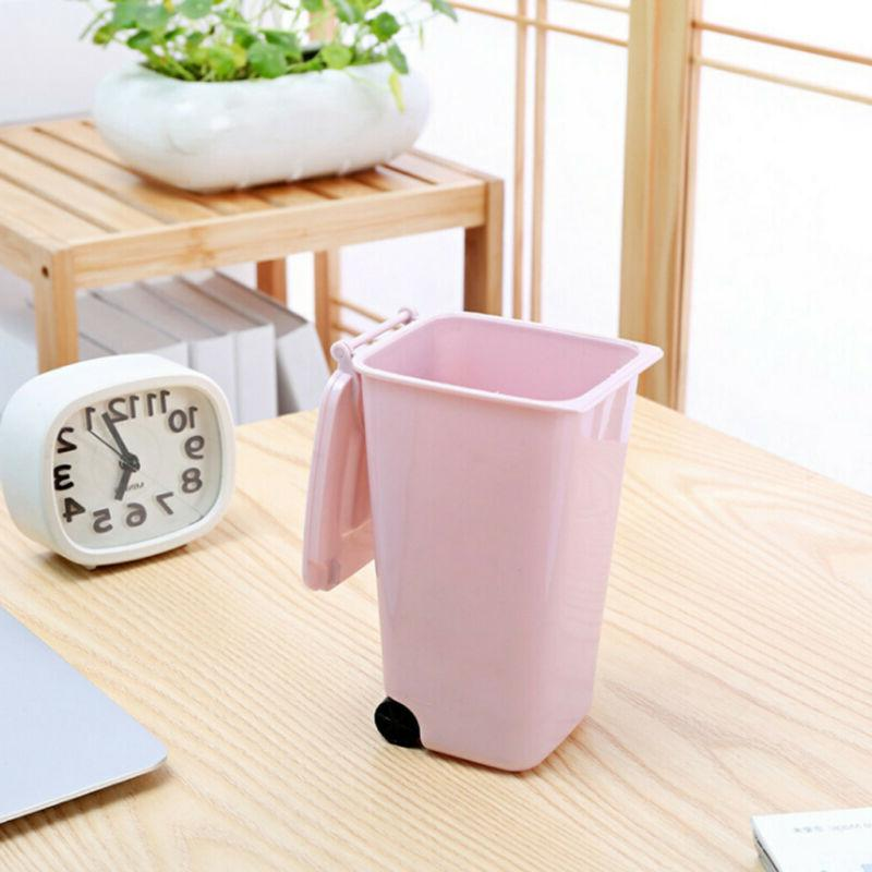 Waste Basket with Cover Mini Can Desk