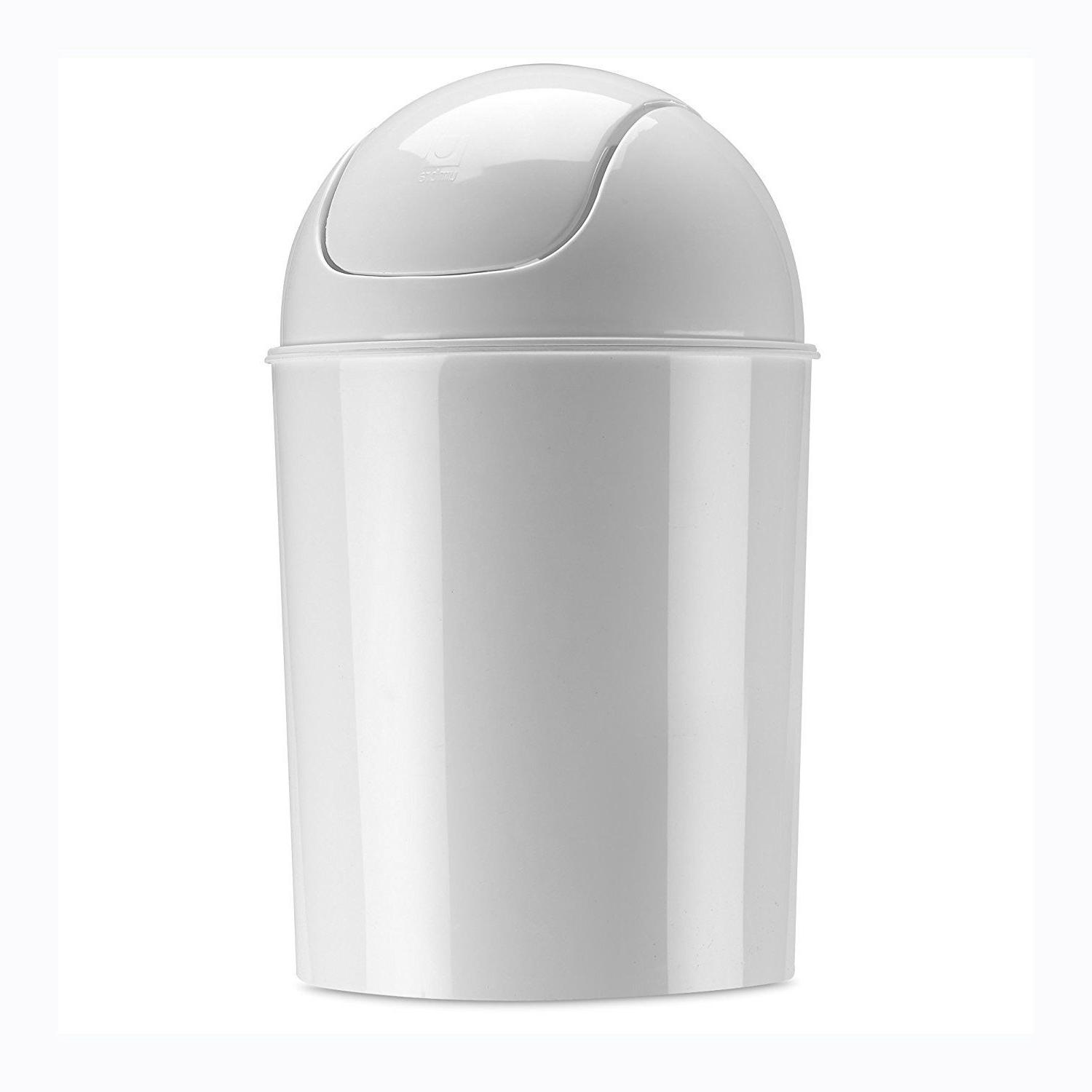 Waste Garbage Basket Can For Bathroom 1/2 Gallon with Swing Lid Colorful