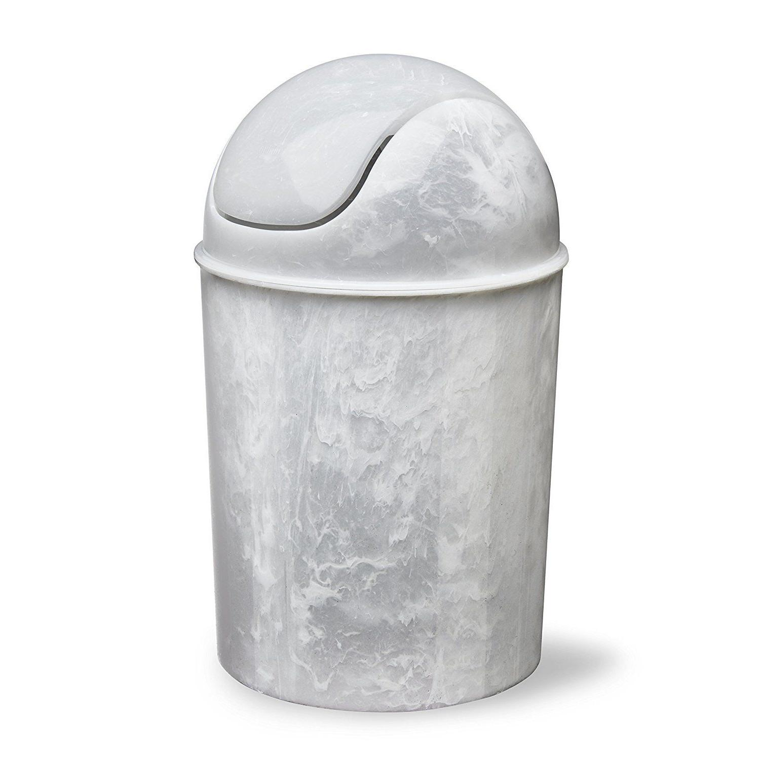 Waste Garbage Basket Trash Can For 1 1/2 Gallon with Swing Lid