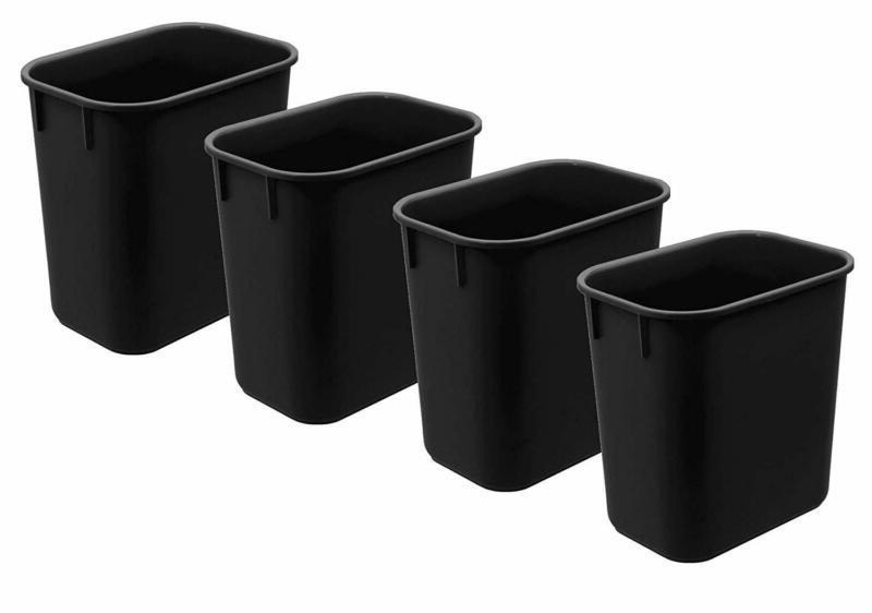wastebasket 13qt 4 pack black color