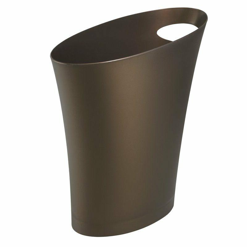 wastebasket garbage bin trash can 2 gallon