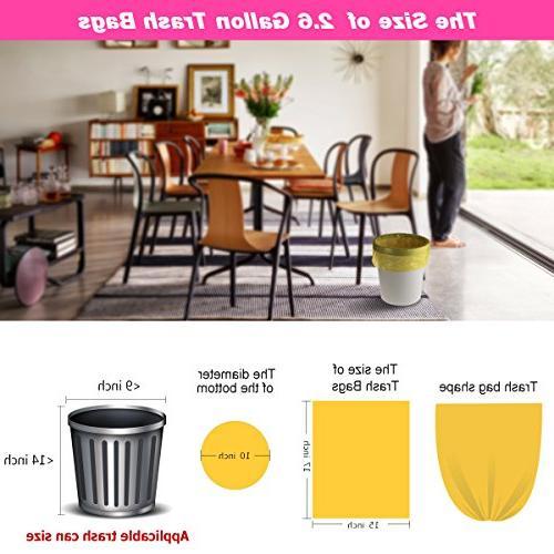 Small Trash 2.6 Trash Small Bathroom Trash for 150 Counts