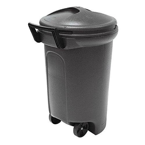 wheeled blow molded trash can