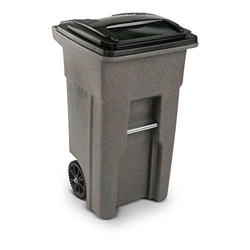 Toter 32 Gal. Graystone Trash Can