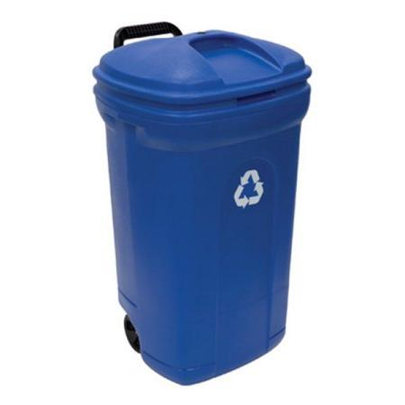 wheeled rectangular blow molded trash