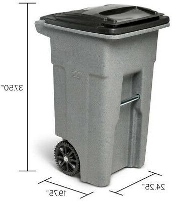 Toter 32 Gal. Garbage Compatible Greenstone
