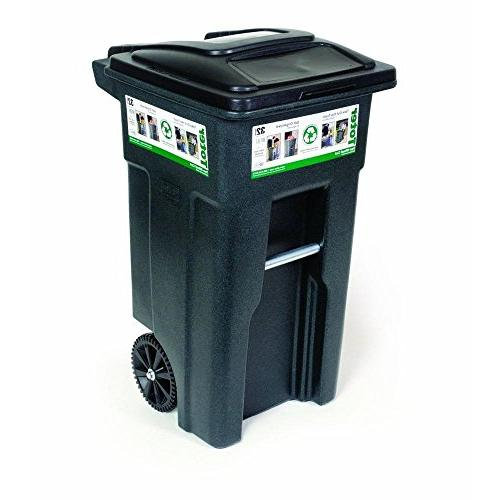 wheeled trash can cart allows