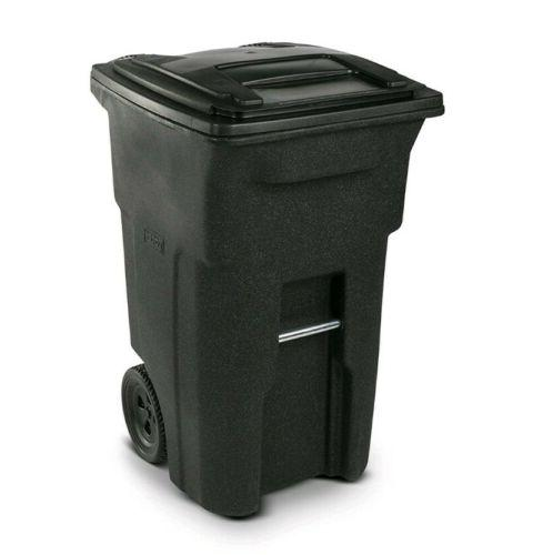 Wheeled Can Curb Outdoor Garbage Duty Large.