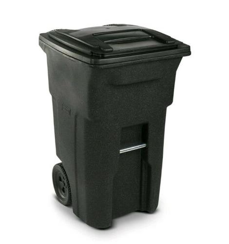 wheeled trash can curb outdoor waste garbage