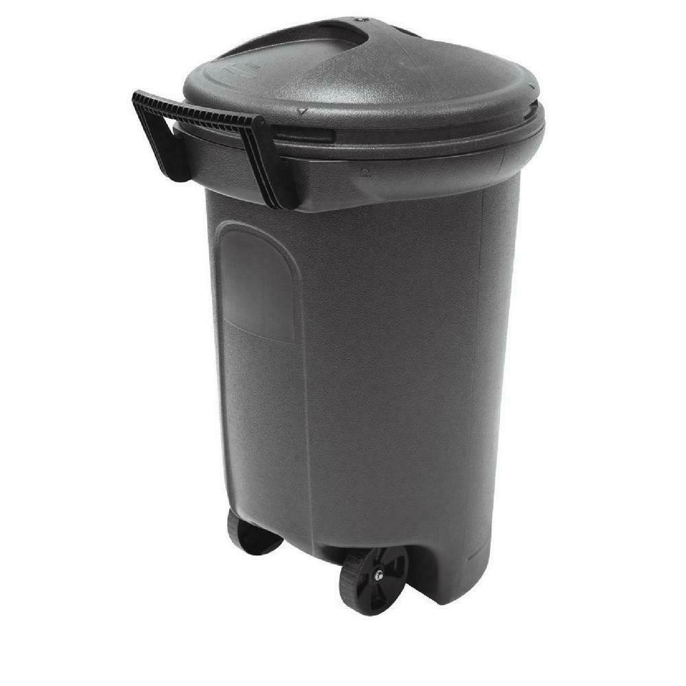 wheeled trash can garbage bin