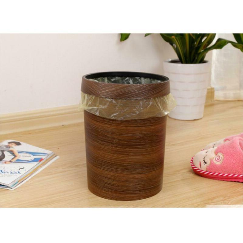 10l wood grain trash bin wastebasket trash