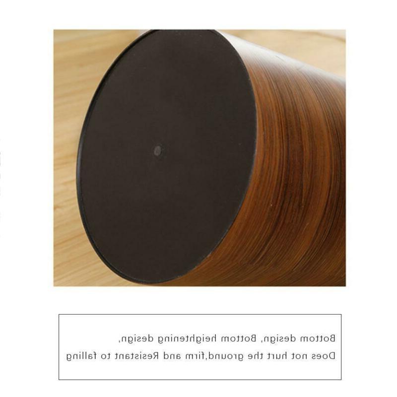 Wood Wastebasket Trash Bin 10L