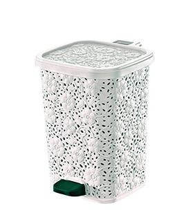 Superio Lace Design Trash Can 12.6 Qt.