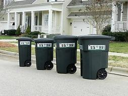 Large Heavy Duty Residential Trash Can Wheels Lid Garbage Ro