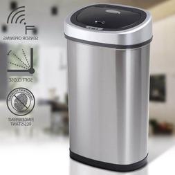 Large Office Kitchen Food Waste Disposal Metal Dustbin Rubbi