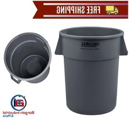 Large Plastic Trash Container 55 Gallon Outdoor Waste Recept