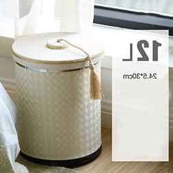 Ging Leather shell metal trash cans,European double layers c