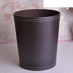 PEIISFUGB leather trash can creative bedroom garbage cans bi