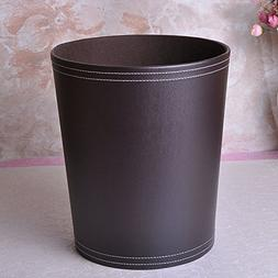 YQ WHJB Leather trash can european-style home use lidless wa