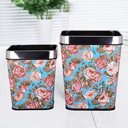 Ving Leather trash cans,European creative fashion square no