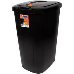 Lightweight and Durable Hefty Touch Lid 13.3 Gallon Trash Ca