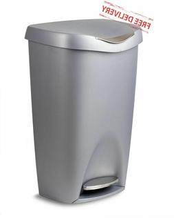 Large Kitchen Trash Can Locking Lid 13 Gallon Sleek Durable