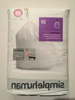 M Simplehuman Plastic Trash Can Liners M 12 Gallon 20 Pack G