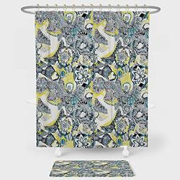 iPrint Mandala Shower Curtain And Floor Mat Combination Set