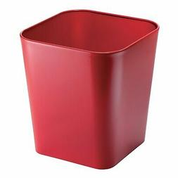 mDesign Metal Square Small Trash Can Wastebasket, Garbage Co