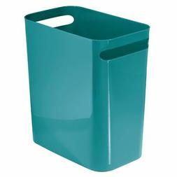 mDesign Slim Plastic Rectangular Large Trash Can Wastebasket