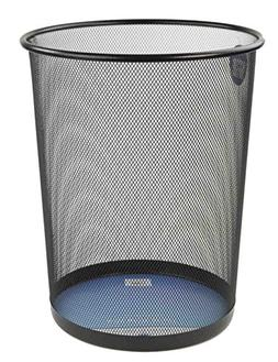 Home Basics 6 Liter Mesh Steel Trash Waste Garbage Can