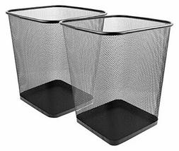 mesh wastebasket trash can square