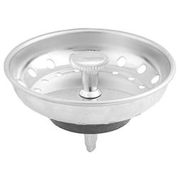 uxcell Metal Household Round Residue Garbage Drainer Sink St