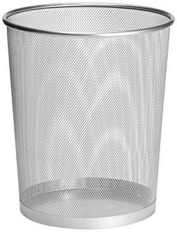 Zuvo Metal Wire Mesh Waste Basket Garbage Trash Can For Offi