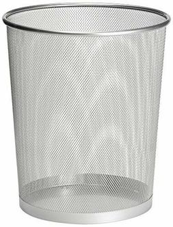 Metal Wire Mesh Waste Basket Garbage Trash Can for Office Ho