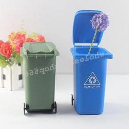 Mini Curbside Desk TRASH&RECYCLE Can Plastic Garbage Office