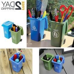 Juvale Set of 2 Mini Curbside Trash Recycling Pencil Pen Hol