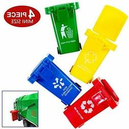 Original Color Mini Curbside Vehicle Garbage Bin Trash Can T