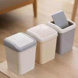 Mini Desk Table Plastic Garbage Wastebasket  Bin Rubbish Tra