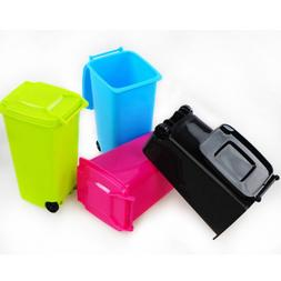 Mini Desktop Tidy Pen Holder Rubbish Garbage Bin Trash Can W