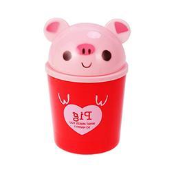 TOYMYTOY Mini Desktop Trash Bin Cute Cartoon Animals Waste C