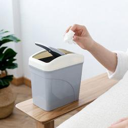 a31aed11a Mini Desktops Garbage Basket Waste Can Household Covered Tab