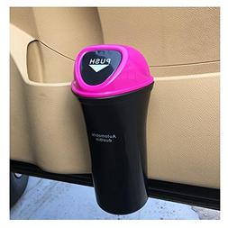 LuckySHD Mini Garbage Can Auto Trash Bin for Car Office - Ro