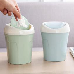 Mini&Small Trash Garbage Can Plastic Swing Lid Bathroom Kitc