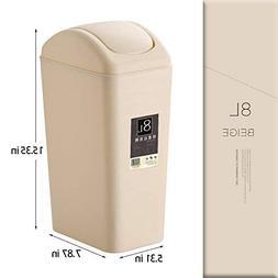 Topgalaxy.Z Mini Waste Can 8 Liter/2 Gallon Plastic Trash Ca